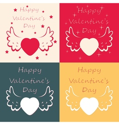 valentine day cards vector image