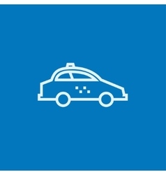 Taxi car line icon vector