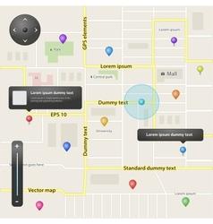 GPS navigation elements vector image