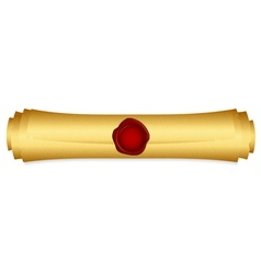 Gold scroll closed vector