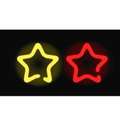 Glowing neon stars design night shape vector