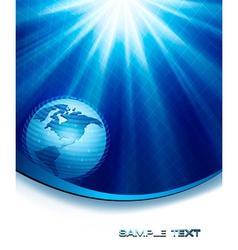blue neon elegant background with globe vector image