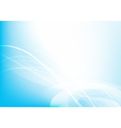 Abstract background blue wave curve and lighting vector