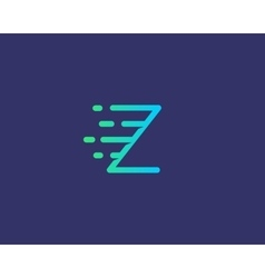 Abstract letter z logo design template dynamic vector