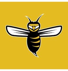 agressive bee mascot vector image