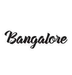 bangalore text design calligraphy vector image vector image