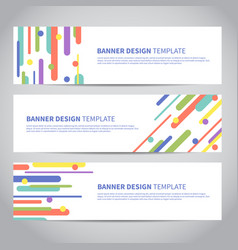 banner covers with flat geometric pattern vector image