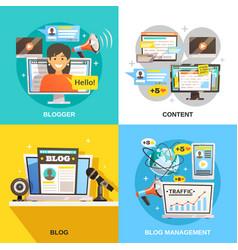 blogger square design concept vector image vector image