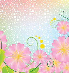 Bright pink flowers with background vector image vector image