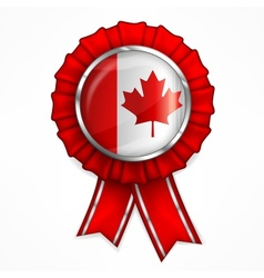 Canadian award ribbon vector image vector image