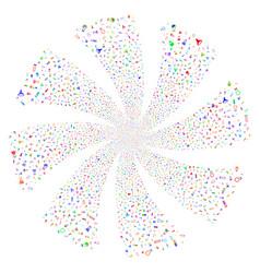 chemistry tubes fireworks swirl rotation vector image vector image
