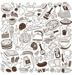 Cookeryfood doodles vector image