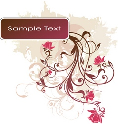 floral banner design vector image