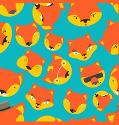 Fox seamless pattern foxes ornament texture of vector