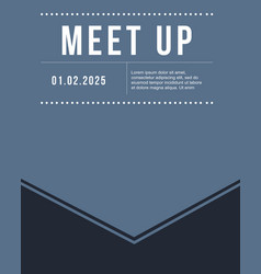 Geometric cover design meet up card vector