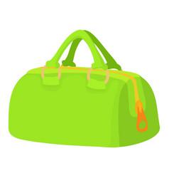 Green sports bag icon cartoon style vector