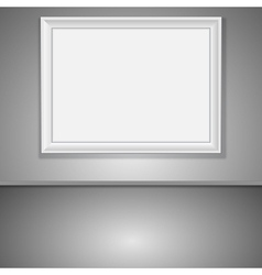 Interior with empty frame vector image