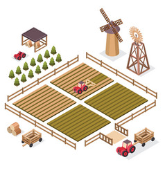 isometric of a harvest vector image vector image