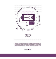 local seo keywording search banner with copy space vector image