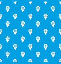 map pin pattern seamless blue vector image