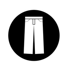 Masculine pants clothes icon vector