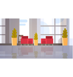 Modern office hall building waiting room interior vector