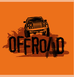 Off road image vector