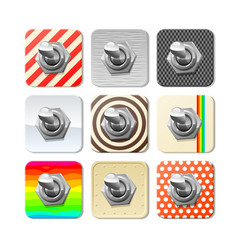 panel toggle switches set vector image vector image