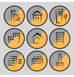 Pictures of houses and buildings vector