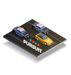 Pursuit street racing composition vector