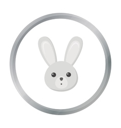 Rabbit cartoon icon for web and vector image vector image