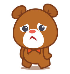 Sad bear character vector