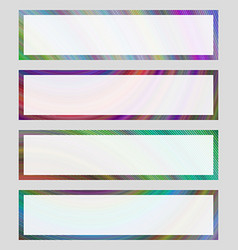 Set of colorful banner frames vector
