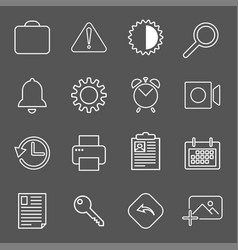 set with mail icons in modern style high quality vector image vector image
