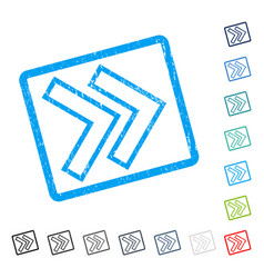 Shift right icon rubber watermark vector