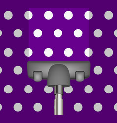 Vacuum cleaner drains purple carpet vector