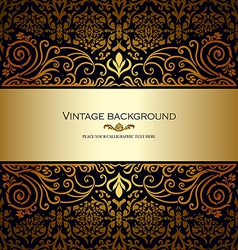 Vintage card royal gold vector image vector image