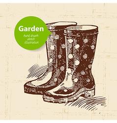 Vintage sketch garden background vector