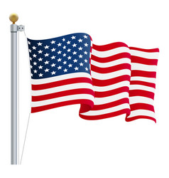 waving united states of america flag uk flag vector image