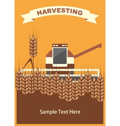 Wheat Harvest Background vector image