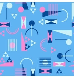 Seamless geometric pattern in retro 80s style vector