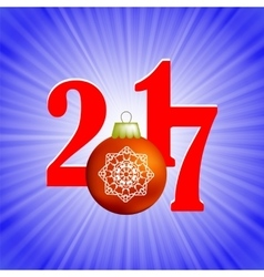 Christmas Banner 2017 New Year Poster vector image
