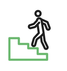 Climbing stairs vector