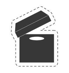 Open cardboard box delivery pictogram vector