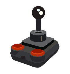 Isolated videogame joystick vector
