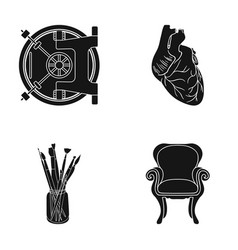 Furniture medicine business and other web icon vector