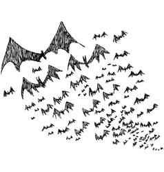 Bats flock vector image