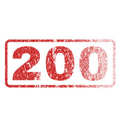 200 rubber stamp vector image vector image