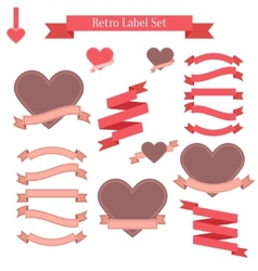 Set of retro labels ribbons banners and tags vector