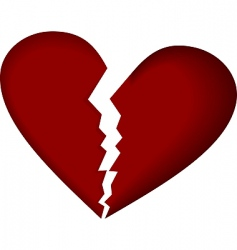 broken heart vector image